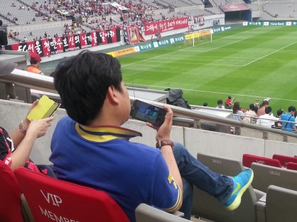 At least wait until kick-off chief! photo courtesy of @korearacing